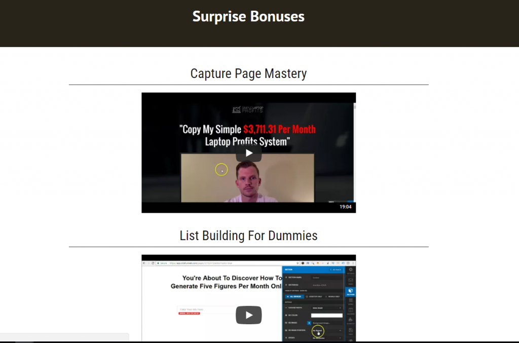 Stealth Commissions Review : Bonus Video Screenshot Members Area
