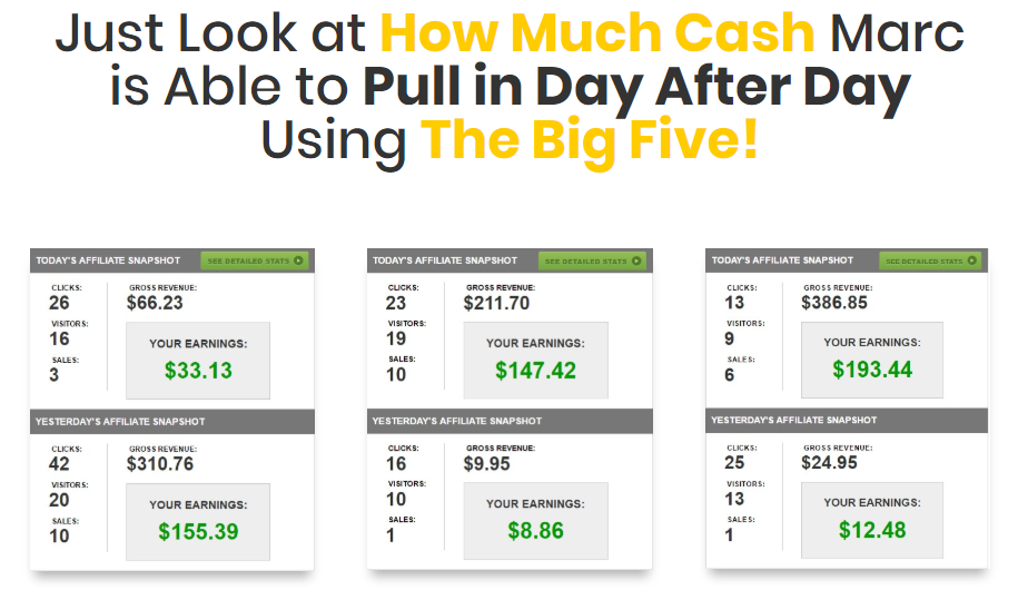 The Big Five Review : Nearly $1100 In Bonuses Here!